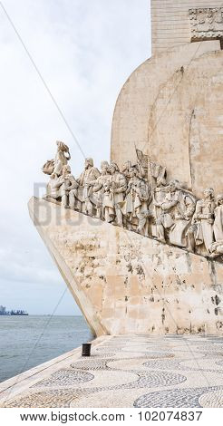LISBON, PORTUGAL - MARCH 27, 2011: Monument to the Discoveries Lisbon Portugal Europe