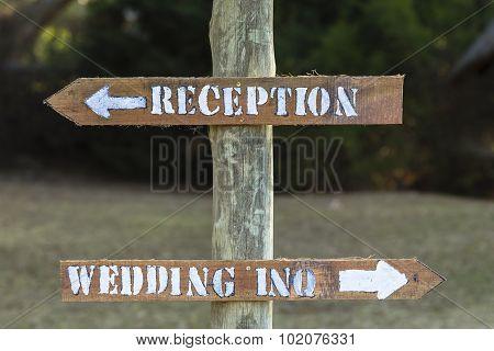 Signs Wedding Reception