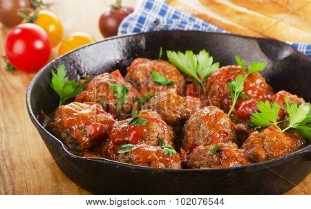 Homemade Meatballs With Tomato Sauce