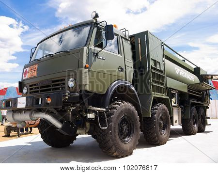 Military truck for transportation diesel fuel
