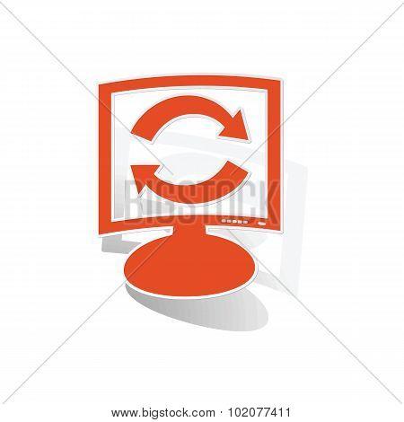 Refresh monitor sticker, orange