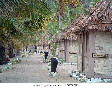 Row Of Huts