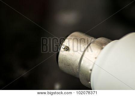 Macro Closeup Of A Home Lightbulb