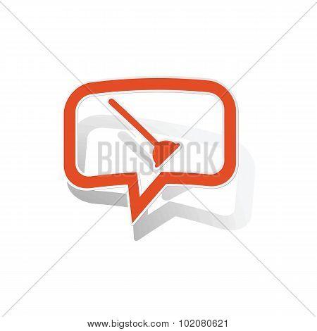 Plunger message sticker, orange