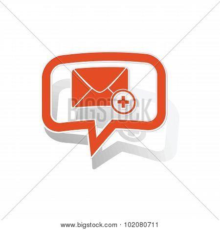 Add letter message sticker, orange