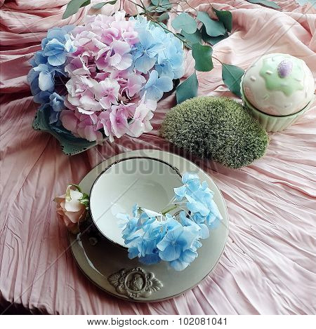 Still life with hydrangea