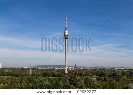 Donau Tower And Donau Park During The Day