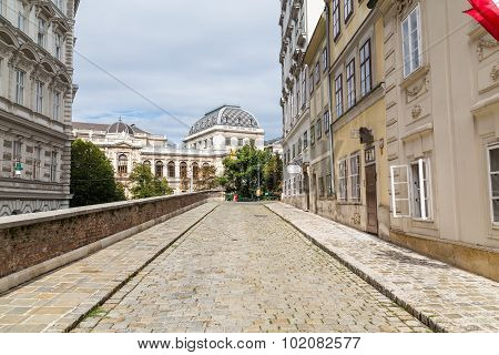 Cobbled Streets In Vienna, Austria