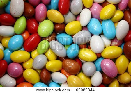 Colorful bonbon sugar