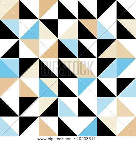 Seamless Geometric Pattern With Triangular Elements