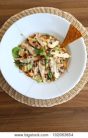 vegetable chicken salad menu