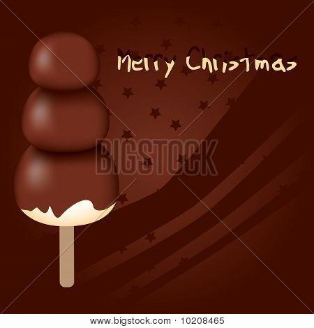 muñeco de nieve de chocolate