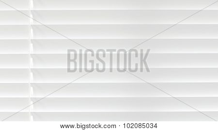 White venetian blind lifted background