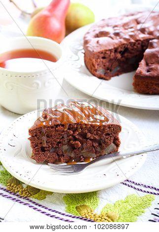 Chocolate Pear Cake