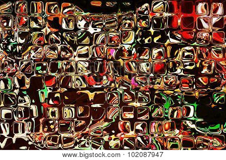 Bright Multicolored Square Shape Pattern As Abstract Background.
