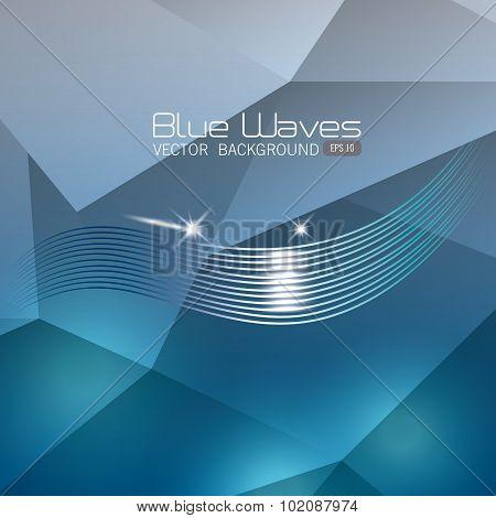 Blue waves design.