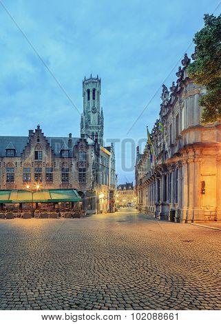Central Bruges market square
