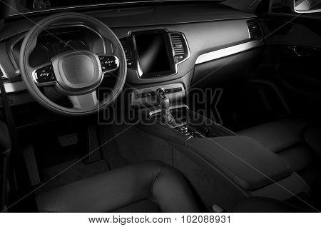 Interior of a modern automobile