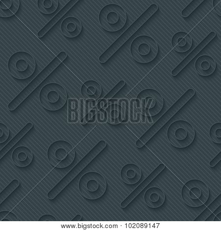Dark gray percent symbols wallpaper. 3d seamless background. Vector EPS10.