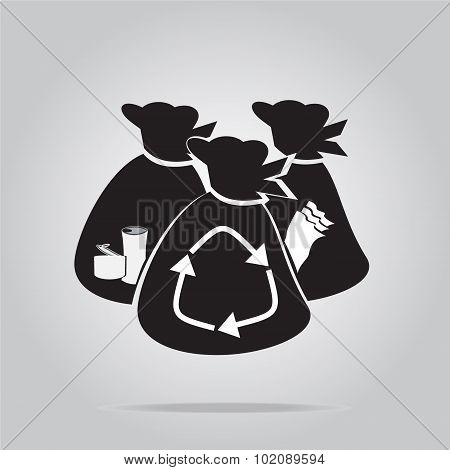 Garbage Bag Symbol Illustration