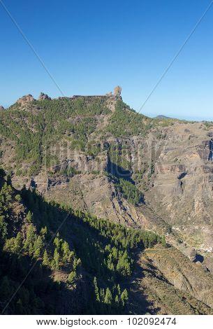 Gran Canaria, Caldera De Tejeda, Roque Nublo