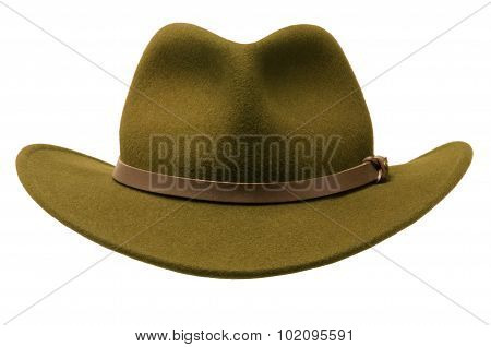 Green Felt Adirondack Hat
