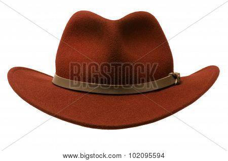 Red Felt Adirondack Hat