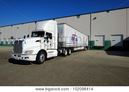Truck at Warehouse