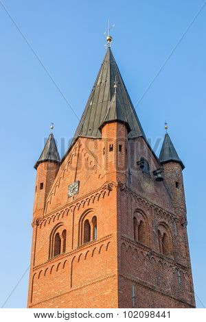 Tower Of The Sankt Petri Church In Westerstede