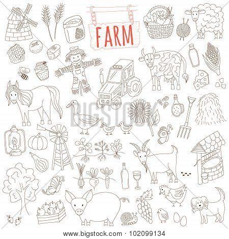 Farm Doodle Set