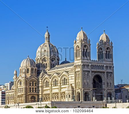 View Of The Historic Cathedral De La Major, In Marseille, France