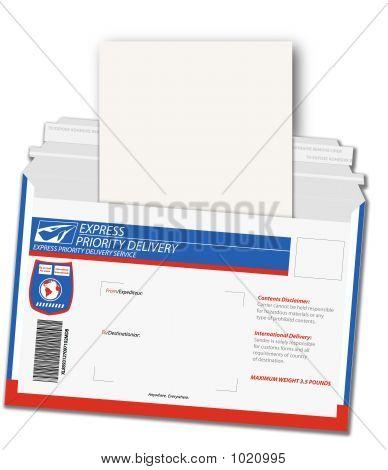 Express-Lieferung-Brief