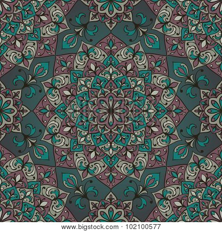 Muted Vector Ornamental Pattern.