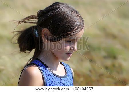 Girl Outdoor Closeup