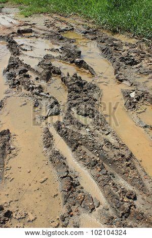 wet muddy road
