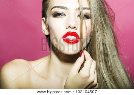 Portrait Of Sensual Cute Woman