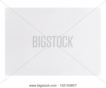 White Empty A4 Paper Isolated On White