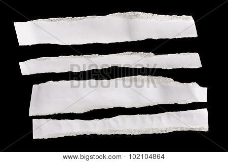 Piece Of White Paper Isolated On Black