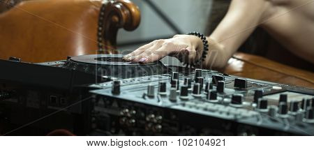 Female Hand And Console