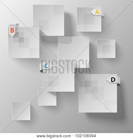 abstract chaotic squares data vector template for your presentation