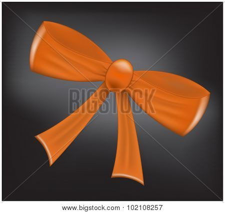 Vector ribbon bow illustration