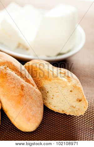 Homemade Baguettes With Cheese