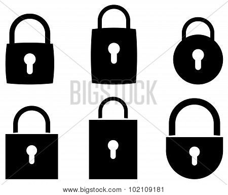 padlock web icon, symbol - vector illustration