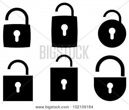 padlock web icon, symbol - vector illustration
