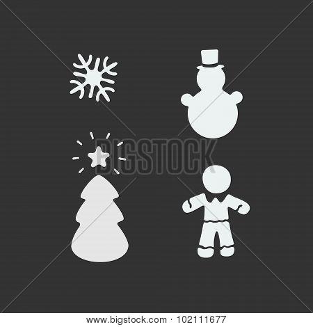 Vector Christmas Stencil
