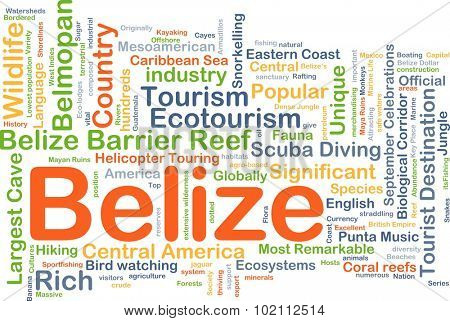 Background concept wordcloud illustration of Belize