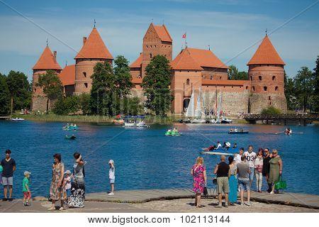 Trakai Island Castle On The Lake Galve