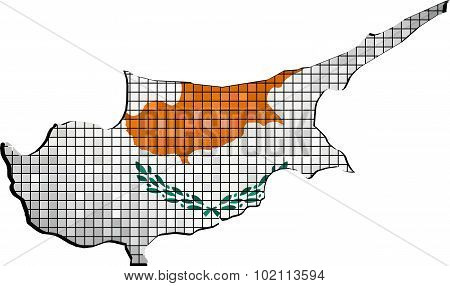 Cyprus Map With Flag Inside