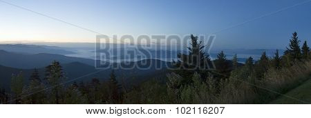 Misty Dawn Over Great Smoky Mountains