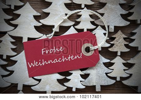 Red Label Frohe Weihnachten Mean Merry Christmas